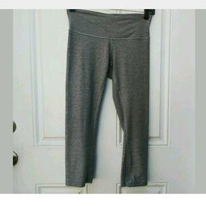 Lululemon Wunder Under Crop Gray Grey leggings